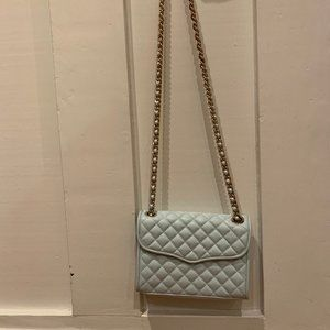 Rebecca Minkoff baby blue quilted crossbody bag